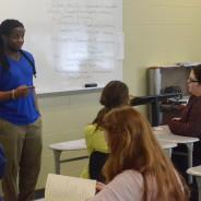 "Paducah poet Samuel ""Snacks"" Hawkins performs for class"